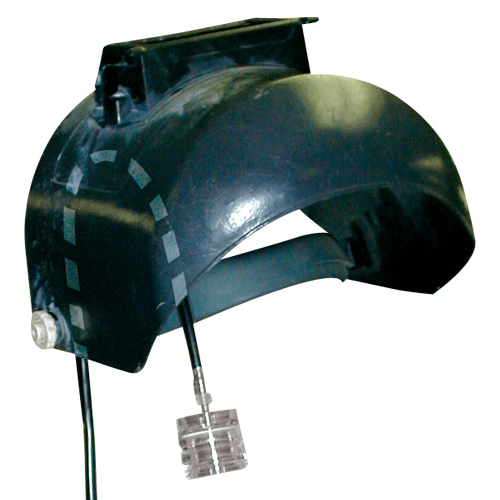 225-600 Helmet Adaptor. Ideal for welders, it effectively holds a filter cassette or sample tube directly in a worker's breathing zone regardless of visor position.