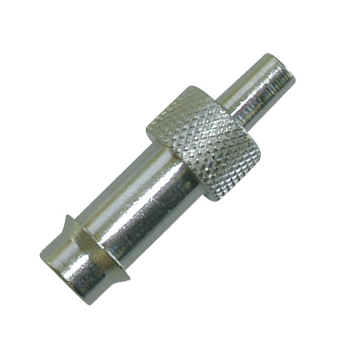 225-13-3 Nickel-plated Brass Adaptors, Luer taper connects to 1/4 inch ID tubing