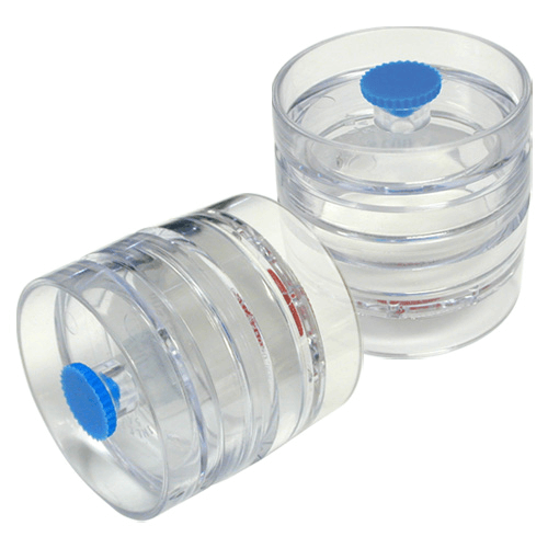 225-3-01 Pre-loaded Mixed Cellulose Membrane (MCE) Filters in 3-piece clear plastic cassette, diameter 37mm, Pore Size 0.8 µm