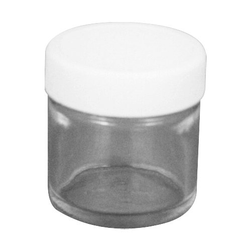 225-8377 Jars, diameter 37 mm with PTFE-lined cap. Suitable for for transporting and solvent extraction of filter samples in the field or laboratory.