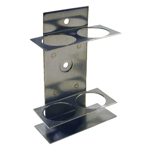225-20-02 Double Impinger Holder, suitable for glass impingers only, for 2 impingers, or 1 impinger and 1 trap. Manufactured in Stainless steel