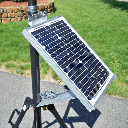 770-230 Solar Power Panel, provides continuous power to the EPAM 5000 where AC mains is not available or accessible