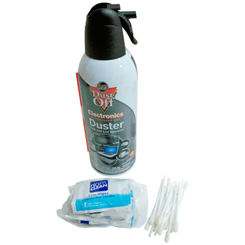 770-305 Cleaning Kit, includes dust-free air canister, swabs and lens tissue