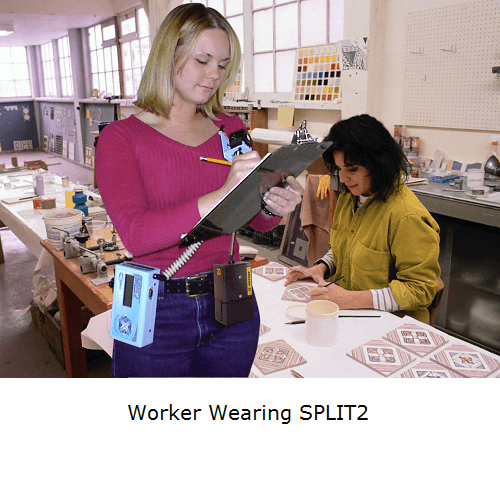 Worker wearing Split2