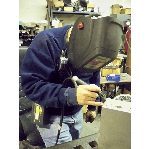 HAZ-DUST IV being used by welder