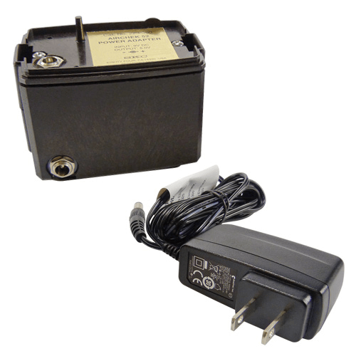 223-300B Battery Eliminator with European plug. Provides mains power operation of the pump for extended sample periods.