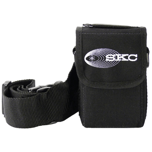 224-88 Black nylon pump pouch with adjustable waist belt and shoulder strap for AirChek XR5000 pump