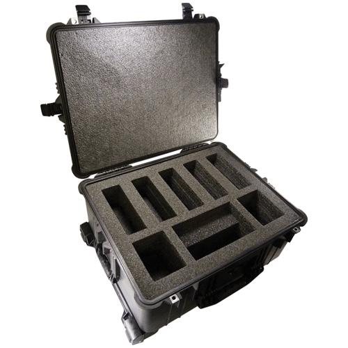 224-907 Pelican Hard-Sided Five Pump Case which is watertight, airtight, dustproof and crushproof for AirChek 3000