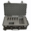 224-910 Pelican Deluxe Hard-Sided Five Pump Case which is watertight, airtight, dustproof and crushproof. It has wheels for easy transport and a retractable handle for AirChek XR5000 pump