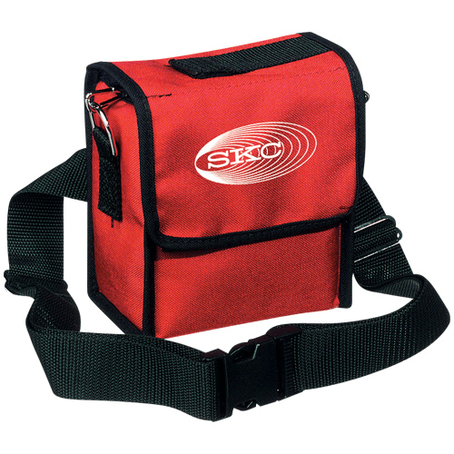 224-95A Red nylon pump pouch with adjustable waist belt and shoulder strap for Universal pump