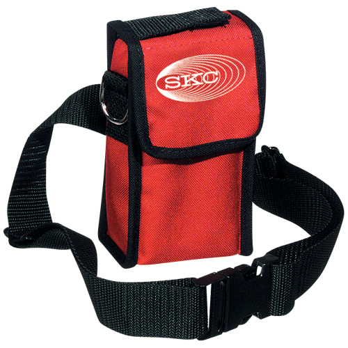 224-96A Red nylon pump pouch with adjustable waist belt and shoulder strap for AirChek XR5000 pump