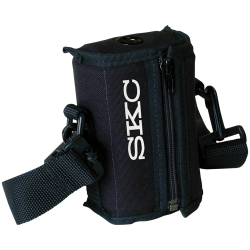 224-96C Noise-reducing black nylon pouch with adjustable waist belt and shoulder strap for AirChek 3000