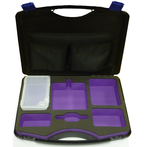 224-98 Single pump carry case with foam cutouts for charger and accessories for AirChek XR5000 pump
