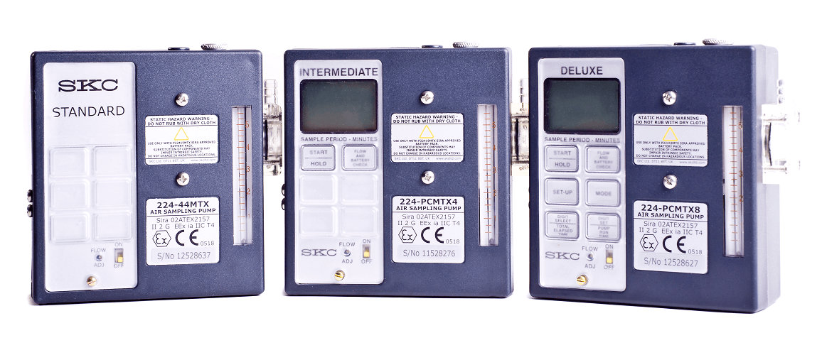 The three Universal Air Sampling Pump models