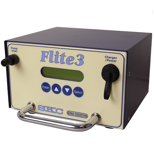 Flite 3 pump for asbestos sampling