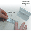 Stick-to-it Tape for sampling irregular surfaces
