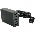 Five Port USB Hub with power cable